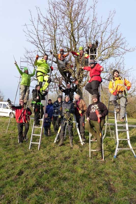 "Teilnehmer ""Streuobst-Baumwart"" Kurs, Februar 2020, Foto: Main-Taunus Naturland und Streuobst e.V."